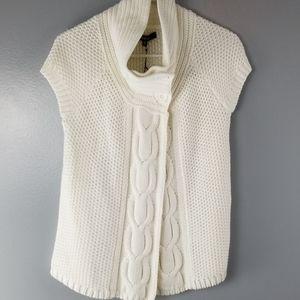 NWT Express White Cardigan Sweater size medium